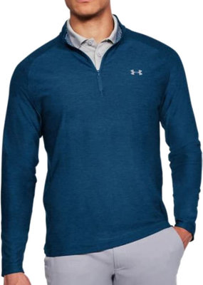 Under Armour Playoff 1/4 Zip Academy/Rhino Gray M