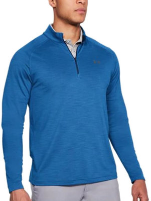 Under Armour Playoff 1/4 Zip Mediterranean/Rhino Gray XL