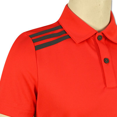 Adidas Boys 3-Stripes Solid Polo Hi-Res Red 13-14Y