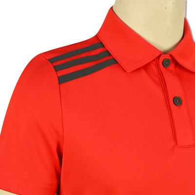 Adidas Boys 3-Stripes Solid Polo Hi-Res Red 7-8Y