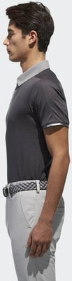 Adidas Climachill Stretch Mens Polo Shirt Carbon /Grey Three S
