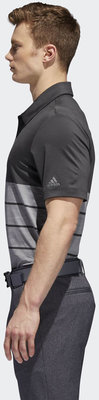 Adidas Ultimate365 Heathered Block Férfi Golfpóló Carbon M