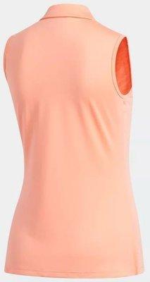 Adidas Wrap Polo Sleeveless Chalk Coral XS