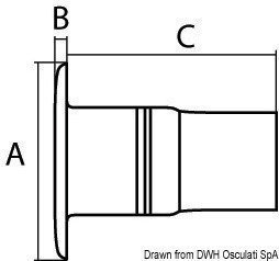 Osculati DIESEL deck plug Stainless Steel AISI316 50mm