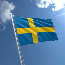 Talamex Bandiera nazionale Sweden 30x45 cm