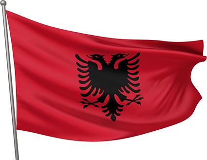 Lindemann Flag Albania 20x30 cm