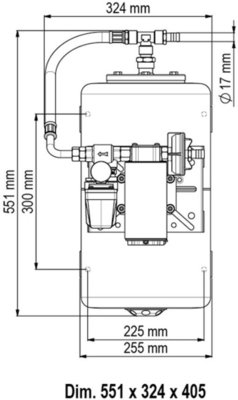 Marco UP12/A-V20 Pompa presiune apa barca