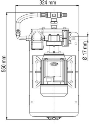 Marco UP6/A-AC 220V 50 Hz Water pressure system with 20 l tank
