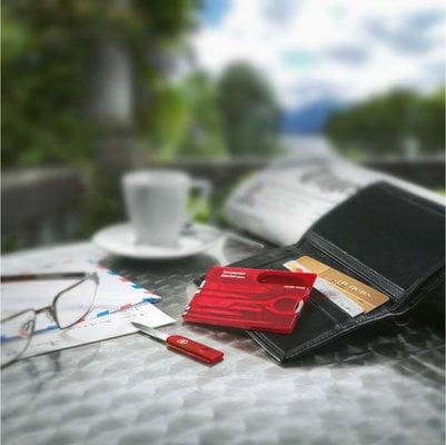 Victorinox SwissCard Red Transparent