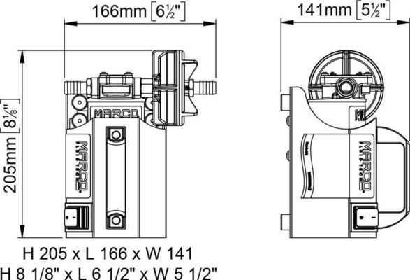 Marco UP3-CK kit portatile pompa ad ingranaggi 15 l/min 24V