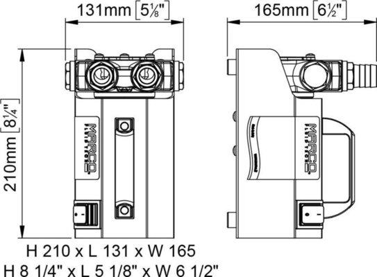 Marco VP45-K Kit riforniUominito con pompa a palette 45 l/min 12V