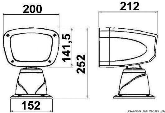 Osculati Classic electric exterior spotlight 24 V