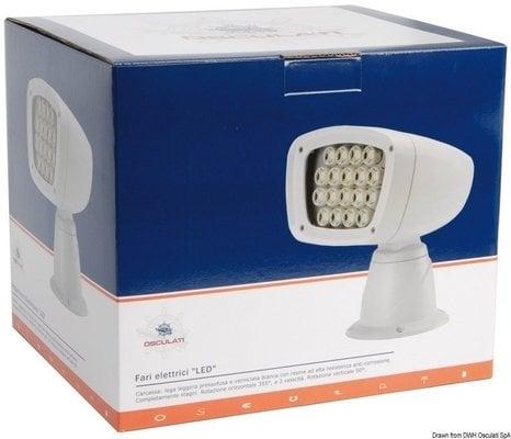 Osculati LED electric exterior spotlight 12 V