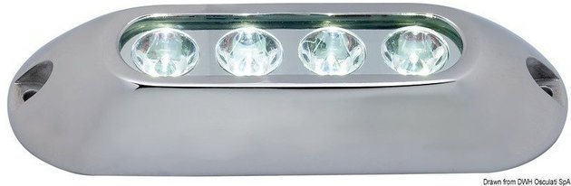 Osculati Underwater spot light with 4 white LEDs