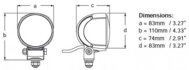 Hella Marine Module 70 - Generation IV LED reflektor s bielym krytom - široký lúč