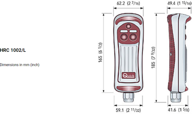 Quick Hand Held Remote Control 2 with LED Light