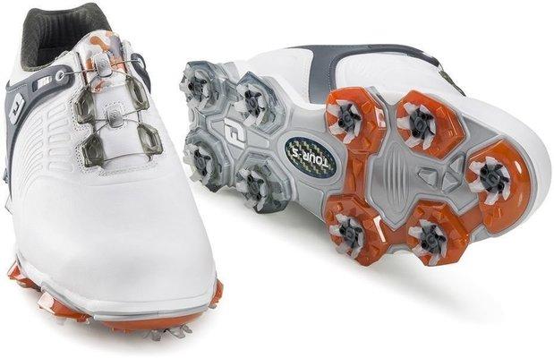 Footjoy Tour-S BOA Mens Golf Shoes White/Dark Grey US 10