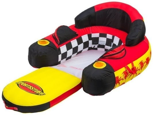 Sportsstuff Inflatable Siesta Lounge 1 Person Red/Black/Yellow