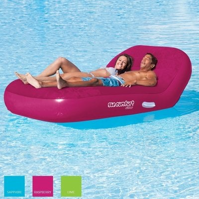 Airhead Inflatable Double Chaise Lounge 2 Persons raspberry rose