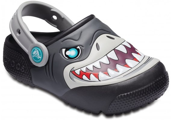 Crocs Fun Lab Lights Clog Kids Black 25-26