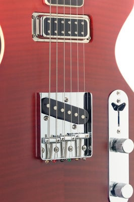 Stagg Silveray Custom Deluxe Shading Red