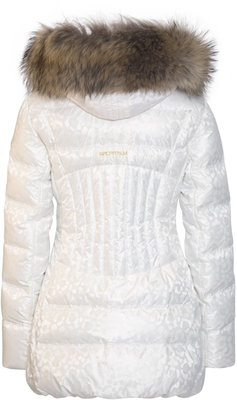 Sportalm Dakota Womens Jacket with Hood and Fur Turtledove 38
