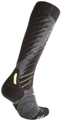 UYN Comfort Fit Mens Socks Medium Grey Melange/Green Lime 45-47