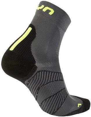 UYN Cycling MTB Mens Socks Anthracite/Fluo Yellow 45-47