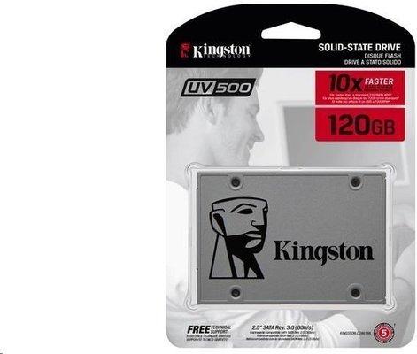 Kingston 120GB SSDNOW UV500 SATA3 2.5'' (R 520MB/s; W 320MB/s)