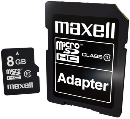 Maxell MicroSDHC 8GB CL10 + Adapter 854716