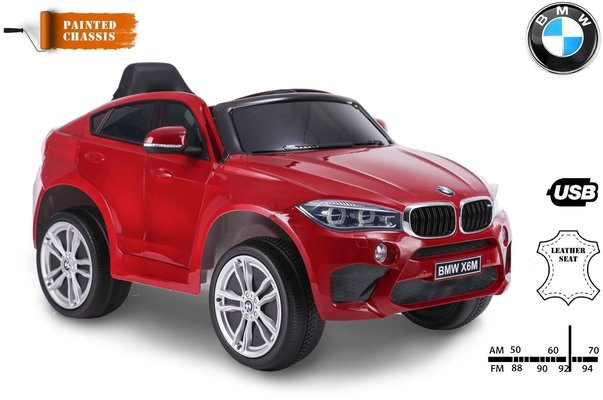 Beneo BMW X6M Electric Ride Red Small