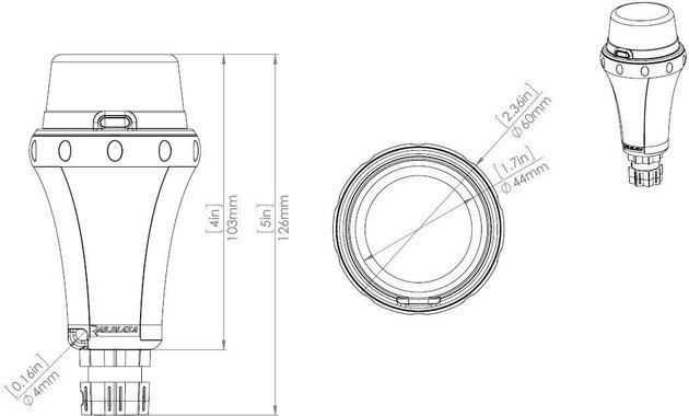 Railblaza Illuminate i360 - Portable biele navigačné svetlo