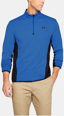 Under Armour Reactor Hybrid 1/2 Zip Mens Sweater Midnight Blue/Platinum L