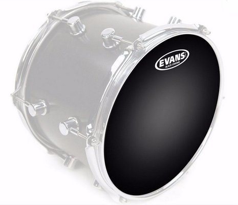 "Evans 18"" Black Chrome Drum Head"