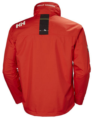 Helly Hansen Crew Hooded Midlayer Jacket Cherry Tomato XS