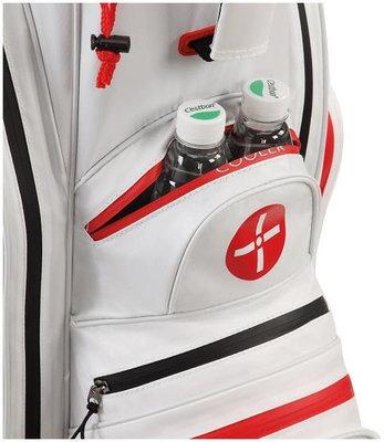 Big Max Dri Lite Active White/Red Cart Bag