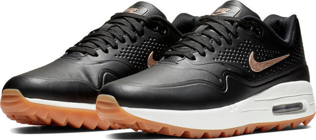 Nike Air Max 1G Womens Golf Shoes Black/Metallic Red US 8