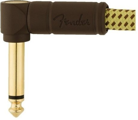 Fender Deluxe Series Instrument Cables A/A 15 cm Tweed - Bowl
