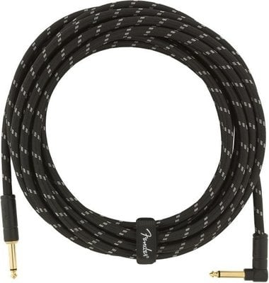 Fender Deluxe Series Instrument Cable S/A 5,5 m Black Tweed