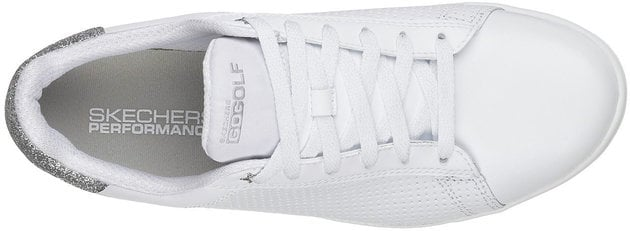 Skechers GO GOLF Drive Womens Golf Shoes White/Silver 36