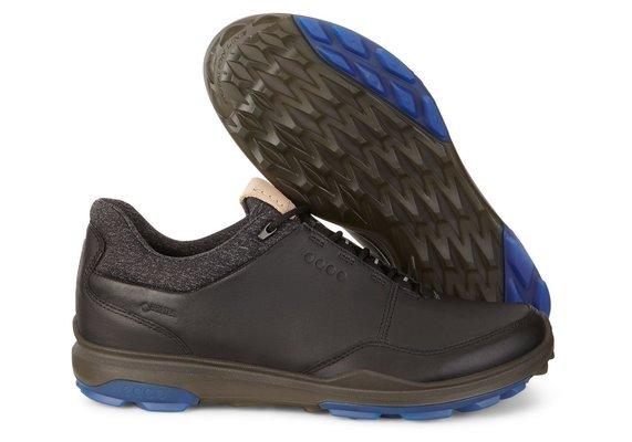 Ecco Biom Hybrid 3 Pánske Golfové Topánky Black/Bermuda Blue 40