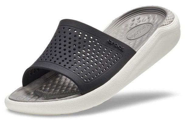 Crocs LiteRide Slide Black/Smoke 46-47