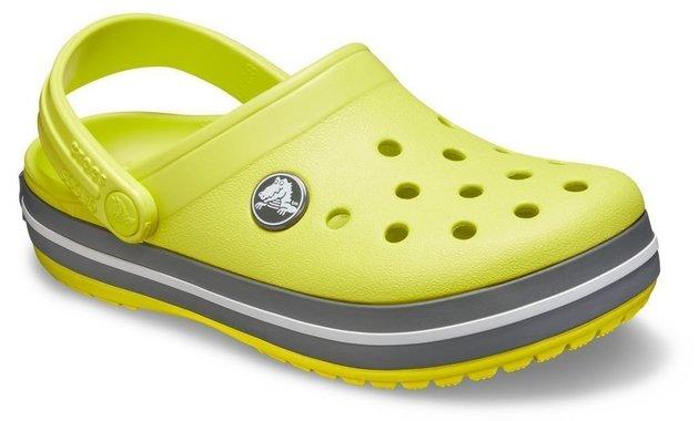 Crocs Kids' Crocband Clog Citrus/Slate Grey 28-29