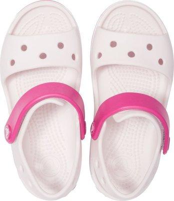 Crocs Kids' Crocband Sandal Barely Pink/Candy Pink 28-29
