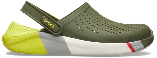 Crocs Lite Ride Colorblock Clog Unisex Agr/White 36-37