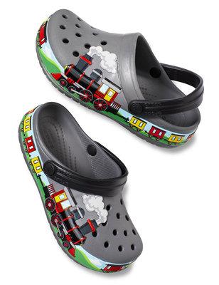 Crocs Fun Lab Train Band Clog Unisex Kids Slate Grey 30-31