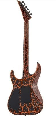Jackson X Series Soloist SLX Crackle IL Orange Crackle
