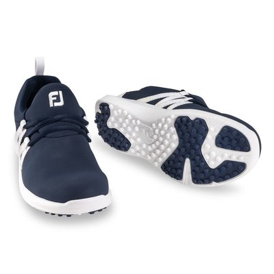 Footjoy Leisure Slip On Womens Golf Shoes Navy/White US 7,5