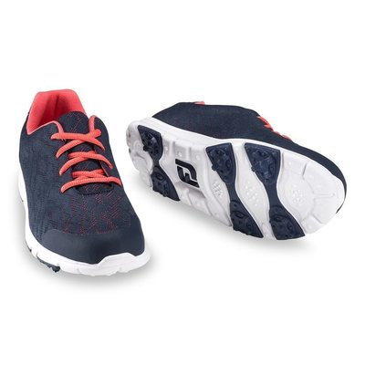 Footjoy Enjoy Womens Golf Shoes Navy/Papaya US 8