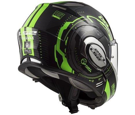 LS2 FF399 Valiant Nucleus Black Glow Green M